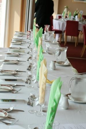 Redcar Racecourse: Decorated Table Image